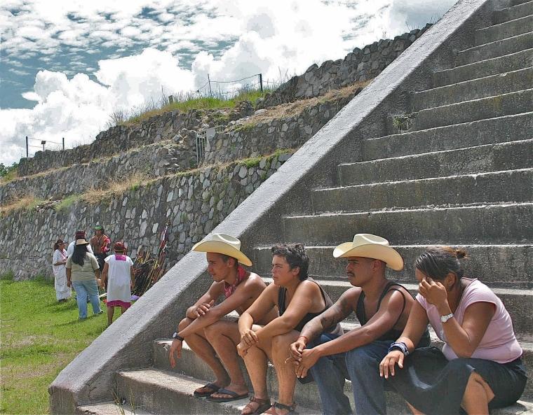 """""""Spirit Run"""" author Noe Alvarez, seated at far left, in Guadalajara , Mexico, in 2004."""