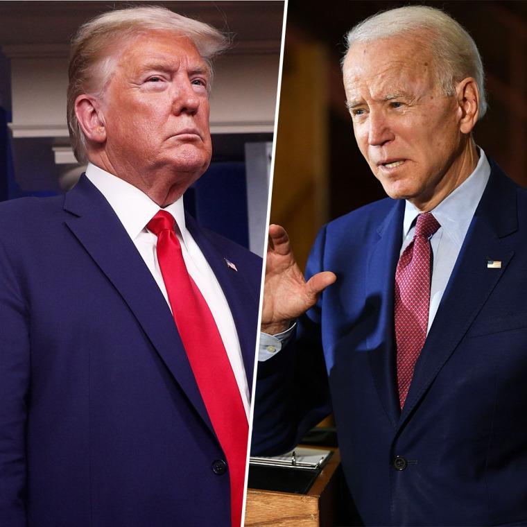 President Donald Trump and Joe Biden.