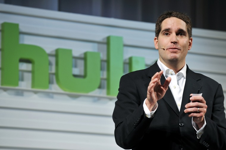 Image: Jason Kilar, chief executive officer of Hulu, speaks at a presentation in Tokyo in 2011.
