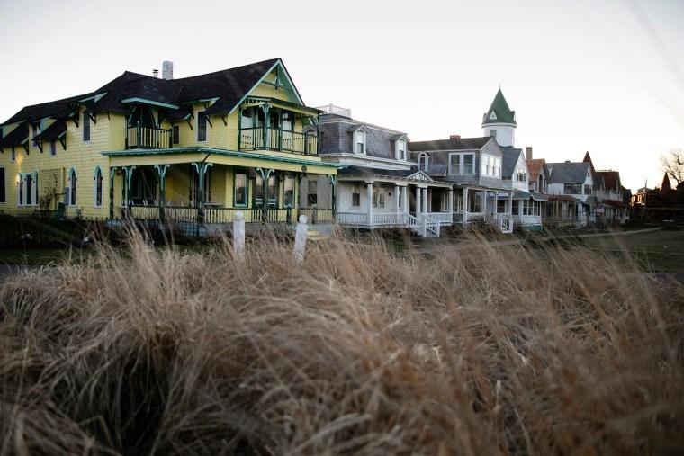 Seasonal homes in Oak Bluffs on Martha's Vineyard.