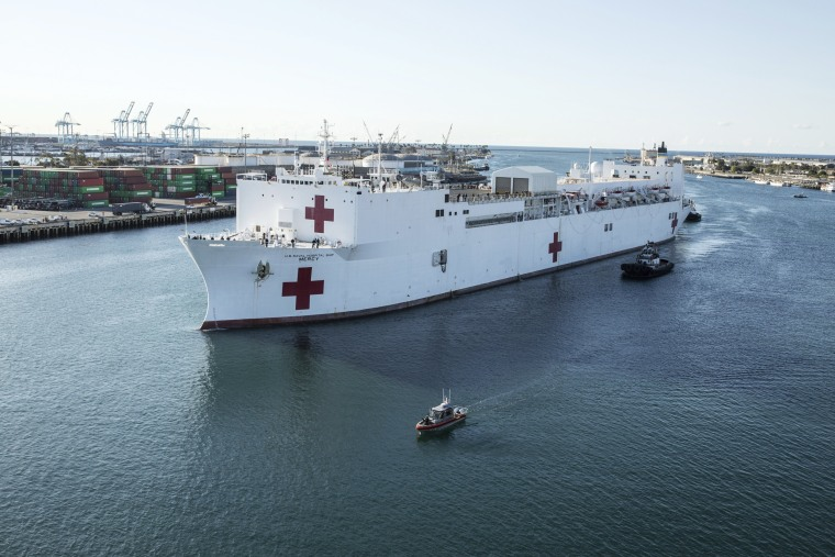 Image: USNS Mercy (T-AH 19) COVID-19 Response Effort Deployment