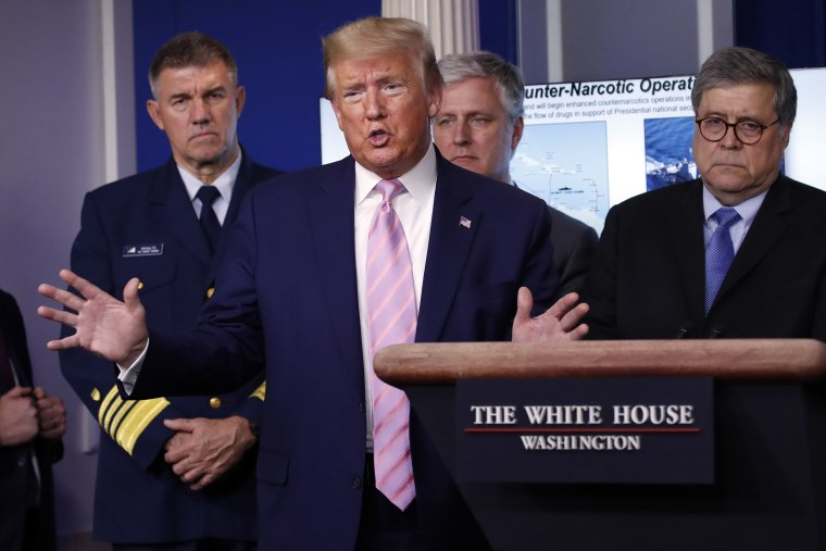 Image: President Donald Trump speaks about the coronavirus in the James Brady Press Briefing Room of the White House