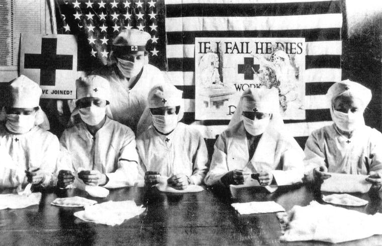 Red Cross volunteers in 1918