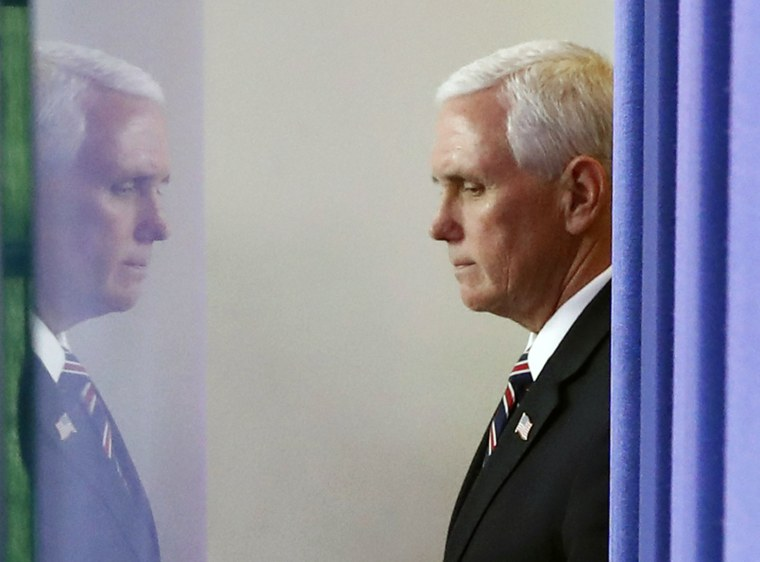 Coronavirus task force role puts Pence — and his future — on the line