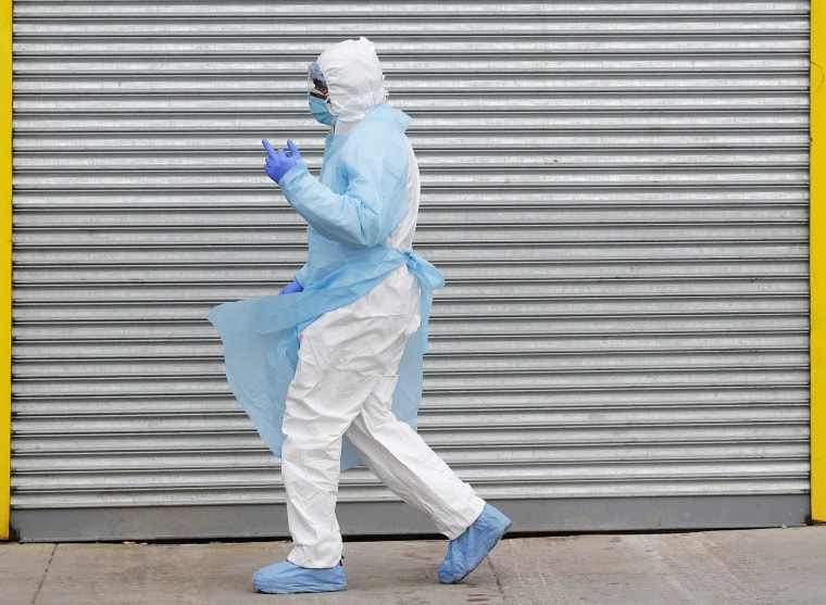 Image: Healthcare worker in Personal Protective Equipment (PPE) at Wyckoff Heights Medical Center during outbreak of coronavirus disease (COVID-19) in New York