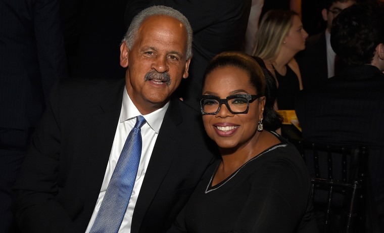 Stedman Graham and Oprah Winfrey at The Robin Hood Foundation benefit in New York City
