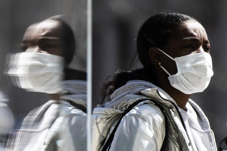 Image: Face mask reflection