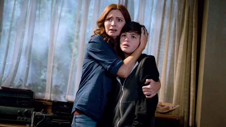 "Image: Brigid Brannagh as Rita Johnson and Logan Williams as Max Johnson in \""The Flash.\"""