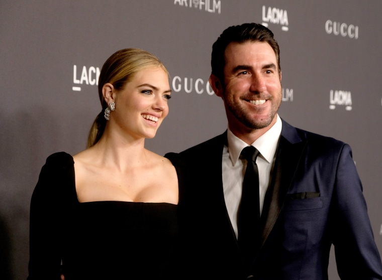 Image: Kate Upton and Justin Verlander at a gala in Los Angeles in 2016.