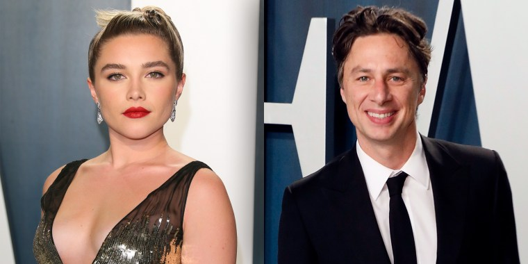 """Florence Pugh responds to the """"toxic vibe"""" of those who have a problem with the 21-year age difference between her and boyfriend Zach Braff."""