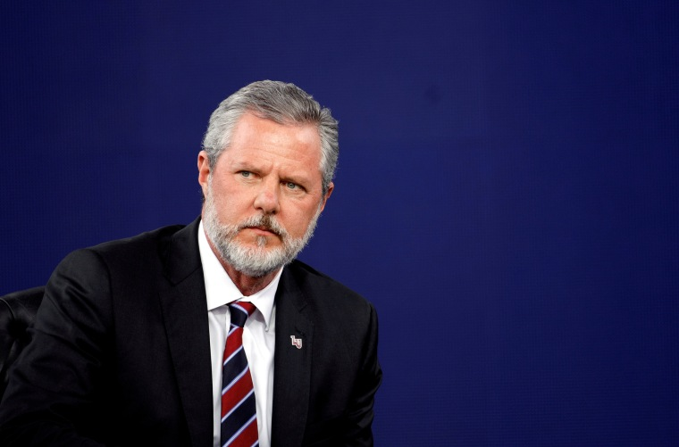 Image: FILE PHOTO: Liberty University President Jerry Falwell Jr., attends commencement in Lynchburg, Virginia