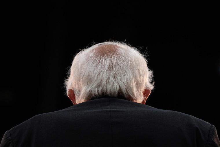 Image: Bernie Sanders during a rally in Myrtle Beach, S.C.,