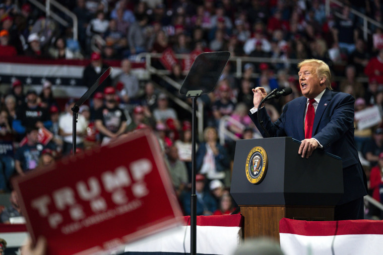 Image: President Donald Trump speaks during a campaign rally at Bojangles Coliseum