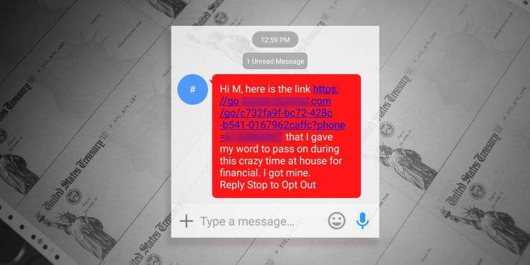 Government watchdogs are warning consumers to watch out for stimulus check scams sent via text message containing phishing links.