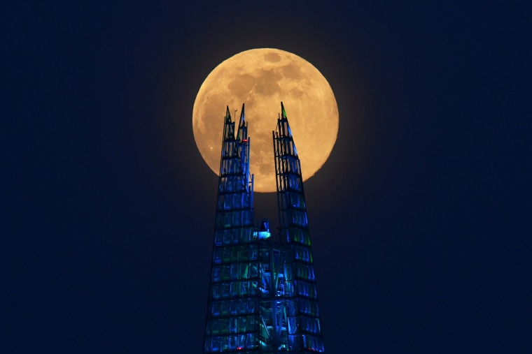 Image: The Supermoon visible over Britain
