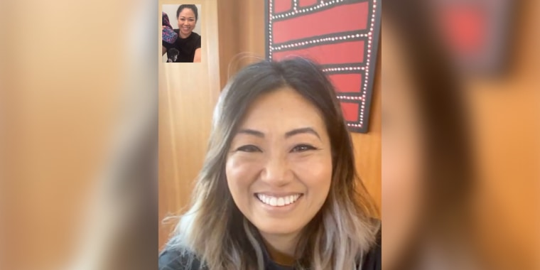CEO and founder of Tokki Jane Park on a video call with CEO and founder of Gravitas Lisa Sun.