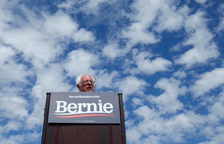 Image: Democratic U.S. presidential candidate Senator Bernie Sanders speaks during a Get Out the Early Vote campaign rally in Santa Ana, California