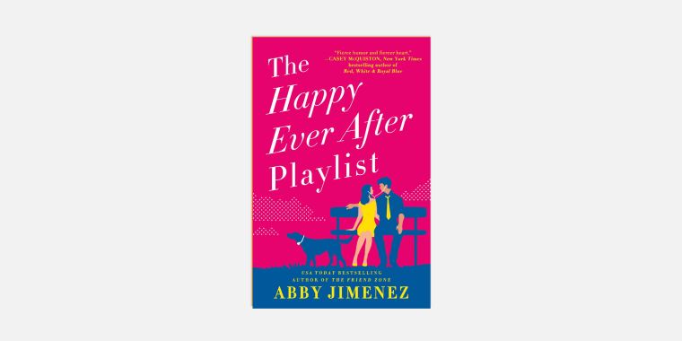 ""\""""The Happy Ever After Playlist,""""' by Abby Jimenez.""760|380|?|en|2|6904c48b23a7e0357fb3fe04cec583cc|False|UNLIKELY|0.3621063232421875