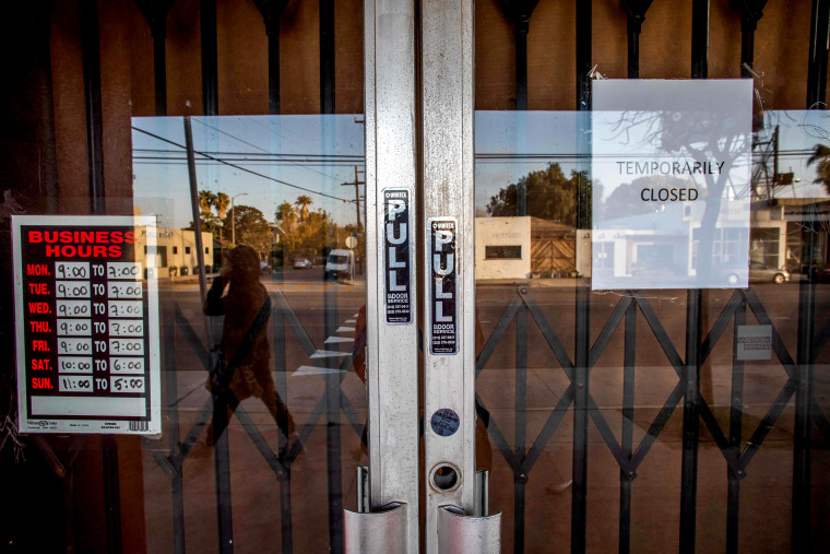 Image: A closed art gallery in Venice Beach, Calif., on April 1, 2020.