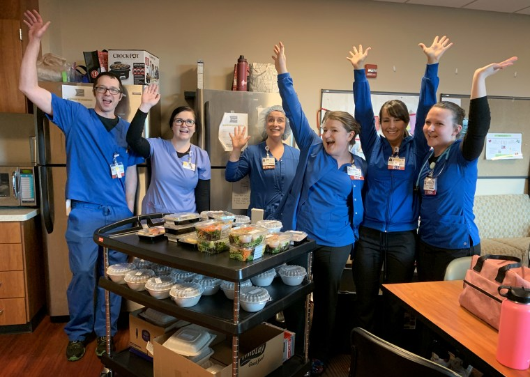 Image: Michael MacKelvie's group, Feed the Fearless, is raising money to purchase meals from local restaurants to donate to health care workers in Oregon and Washington.
