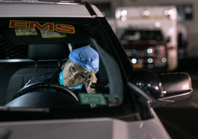 Image: Tri-State EMS Workers Confront Growing Number Of Coronavirus Cases