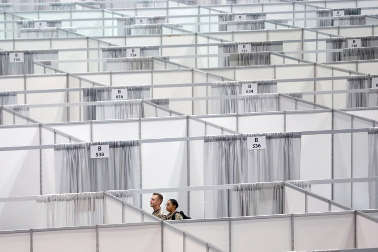 Image: Phase 2 of the Javits New York Medical Station at the Jacob K. Javits Convention Center during the coronavirus disease (COVID-19) outbreak in Manhattan, New York City