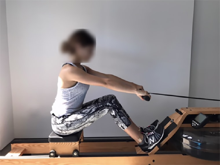 Federal prosecutors released photos of what appear to be Lori Loughlin's daughters on rowing machines. The photos originally appeared in emails from Mossimo Giannulli to Rick Singer. Their faces have been blurred.