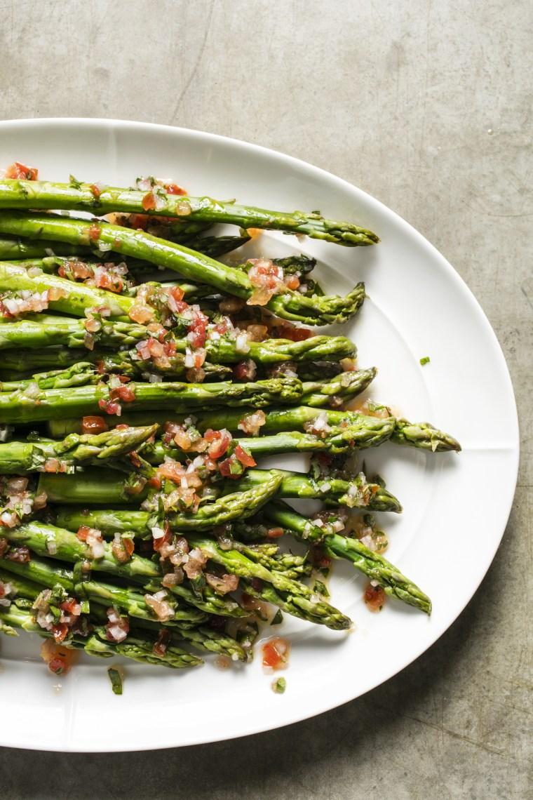 Image: Perfect Asparagus with Tomato-Basil Vinaigrette