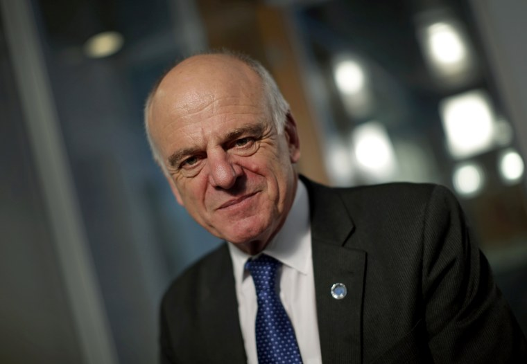 Image: David Nabarro during an interview in New York in 2014.