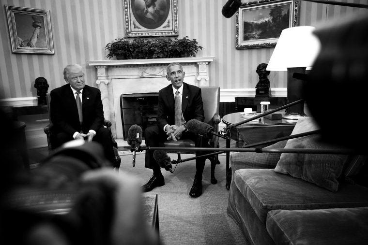 Image: President Barack Obama meets with President-elect Donald Trump at the Oval Office on Nov. 10, 2016.