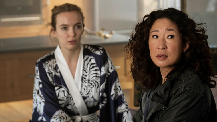 "Image: Jodie Comer and Sandra Oh in ""Killing Eve.\"""