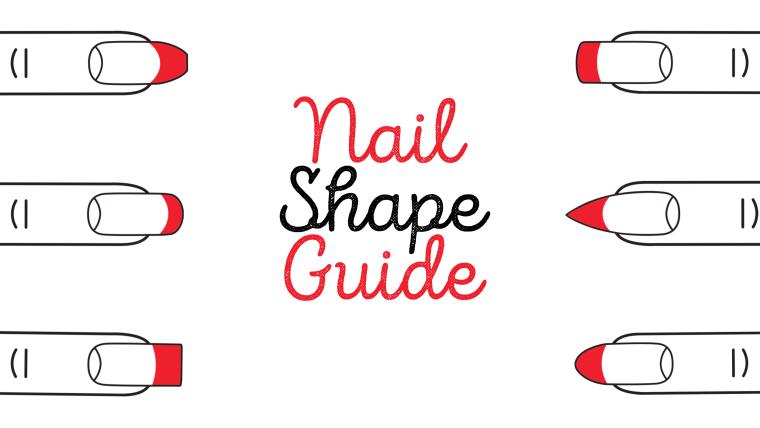 nail shapes chart