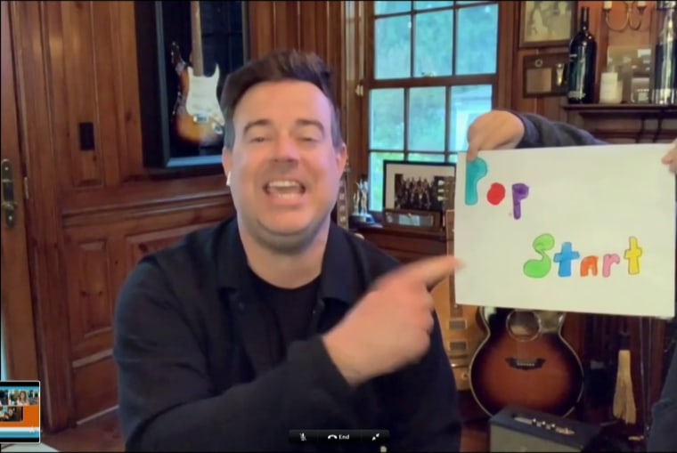 Carson Daly S Son Helps Him Out On Today With Homemade Graphics