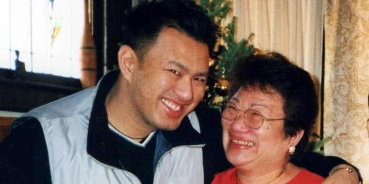 Louis Torres with his mother, Lolita.