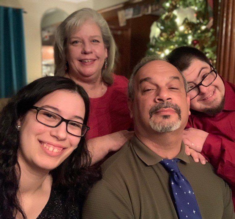 Thomas Martins with his mom, Carolyn Reitz-Martin, stepfather, Rudy Reitz, and sister, Carolyn Reitz.