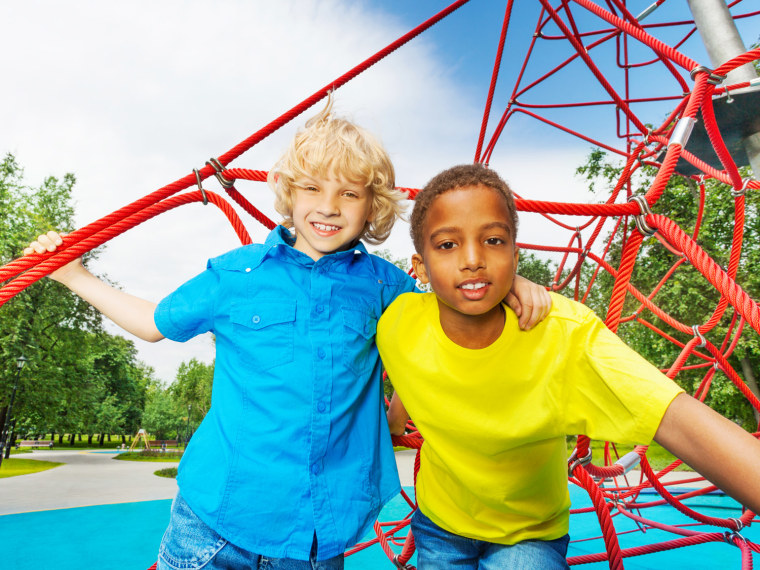 Two boys at the playground