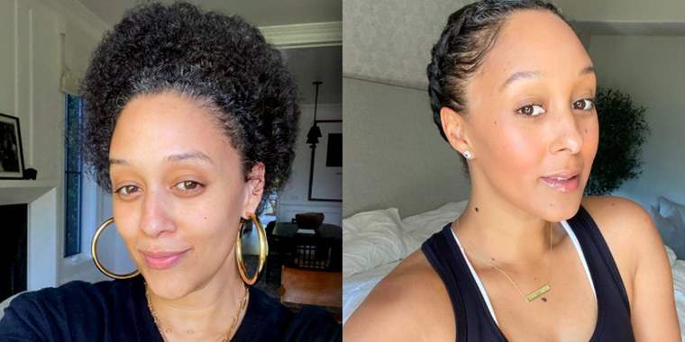The Mowry twins shared make-up free photos while at home.