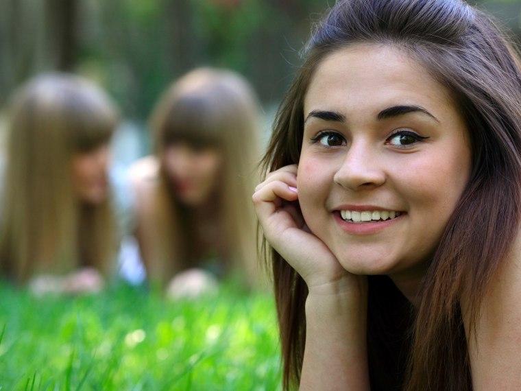 girls in grass