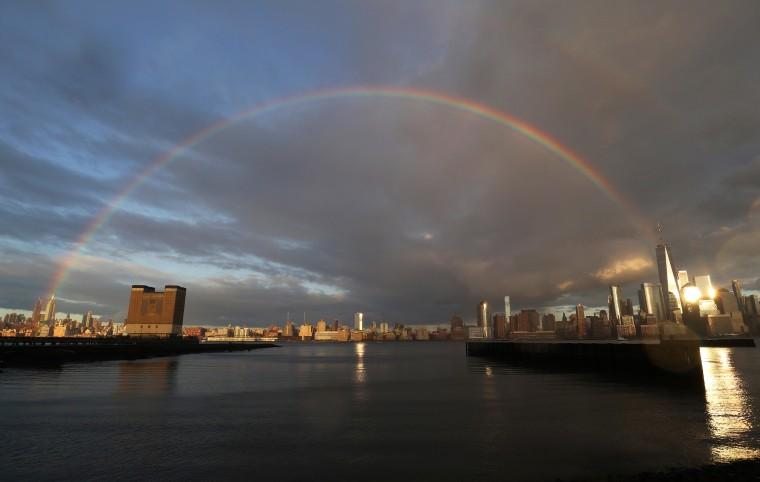 Sunset Rainbow Over New York City