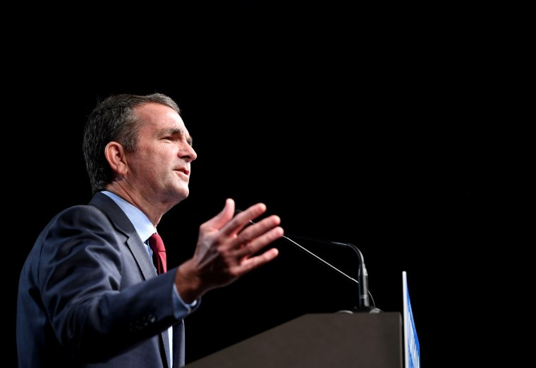 Image: Ralph Northam speaks during a campaign rally in Richmond, Virginia, on Oct. 19, 2017.