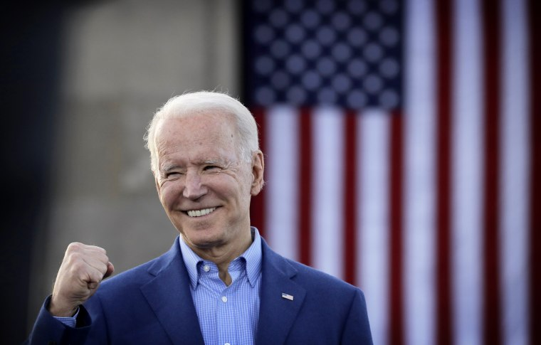 Image: Joe Biden speaks during a campaign rally in Kansas City, Mo., on March 7, 2020.