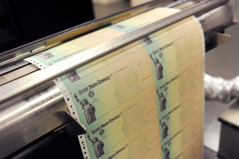 Image: U.S Treasury Facility Prints Social Security Checks