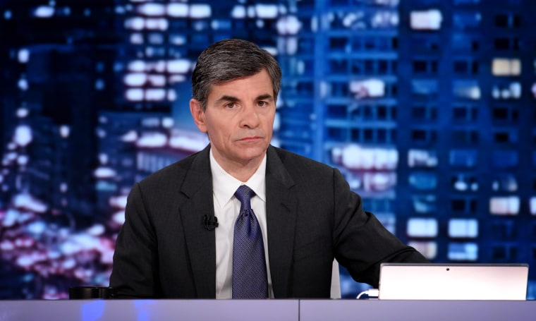 Image: George Stephanopoulos hosts election coverage on ABC News on March 3, 2020.
