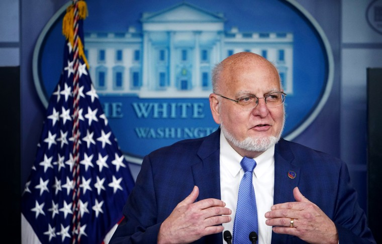 Image: Robert Redfield, director for the Centers for Disease Control and Prevention, speaks at a coronavirus task force briefing at the White House on April 8, 2020.