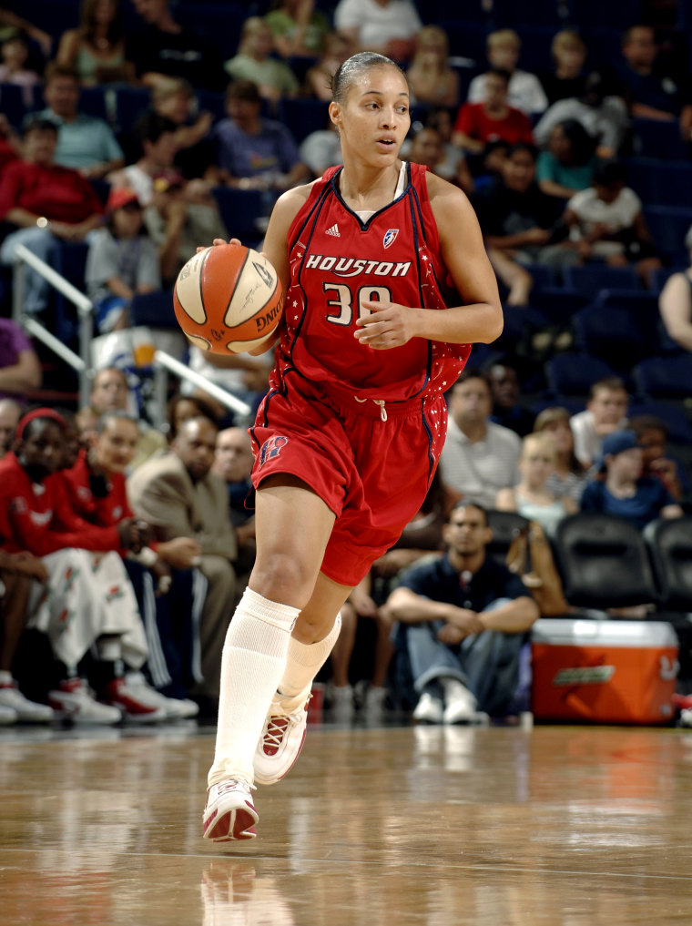 Image: Tamara Moore of the Houston Comets during a game in 2007.