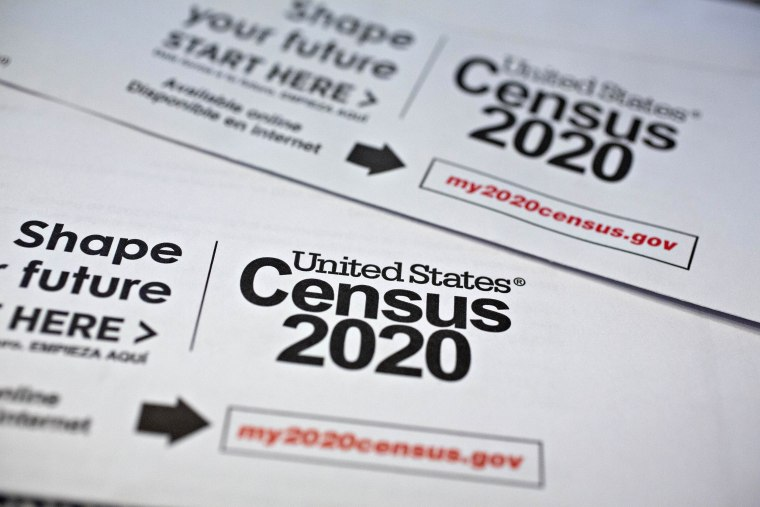 Image: U.S. Census Forms As Bureau Suspends 2020 Field Work On Virus Concern