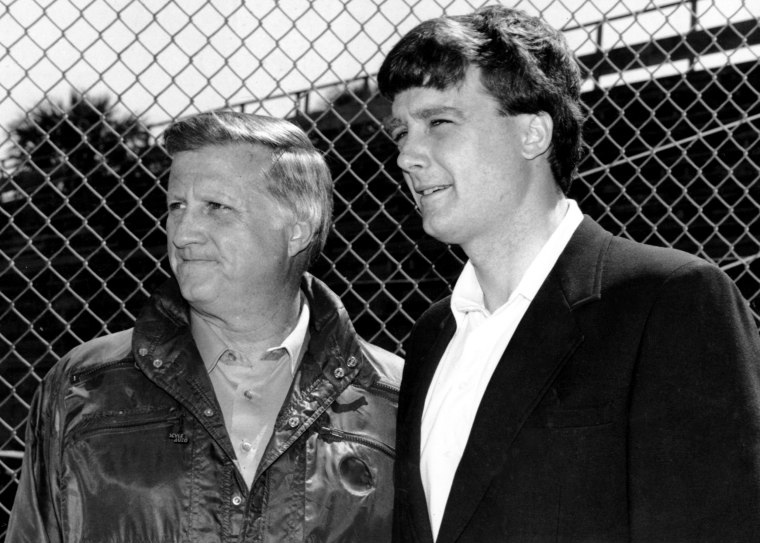 New York Yankees' owner George Steinbrenner (left) with son