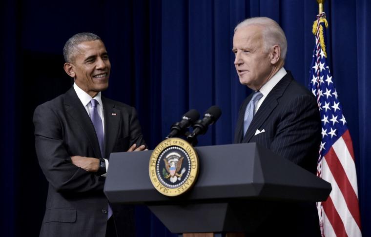 Image: Vice President Joe Biden and President Barack Obama at the White House in 2016.