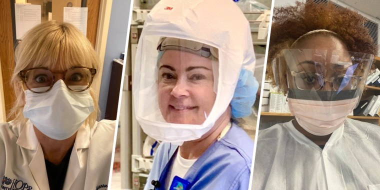 From left to right: Oncologist director Dr. Julianne Childs, registered nurse in the ICU Cindy Erickson and medical laboratory scientist Ashley M. Dumas.