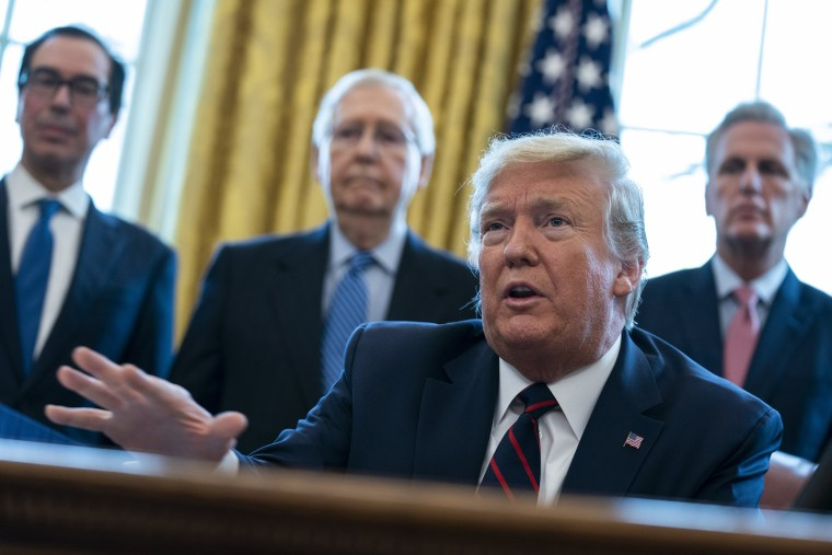 Image: Donald Trump, Steven Mnuchin, Mitch McConnell, Kevin McCarthy